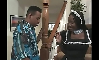 French maid gets fucked at home by her boss