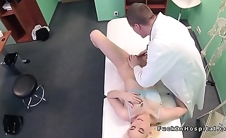Doctor bangs wet pussy blonde patient