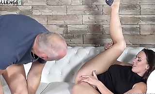 Older Guy Bangs Mea Melone'_s Wet Pussy the Rough Way