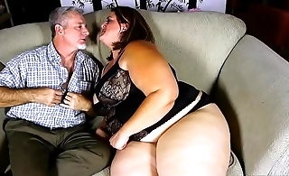 Beautiful BBW with nice big bowels loves to suck and fuck