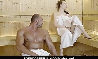 RELAXXXED &ndash_ Tattooed Angel Rush erotic sauna sex session and facial