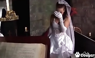 Bride Tanya Cox Gets A Face Plentiful Cum From The Priest On Her Nuptial Day