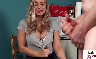 British voyeur instructing her submissive