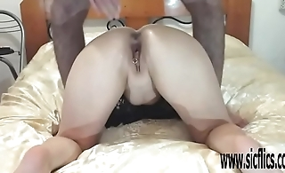 Brutal fisting and giant dildo fucking pussy wreckage