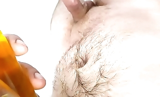 Playing with my piss and cumming