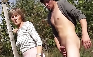 granny sucks and fuck in public