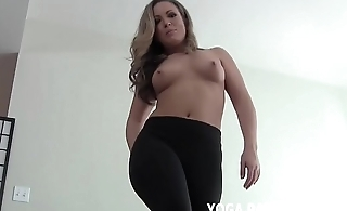 These yoga pants are some real pussy huggers JOI