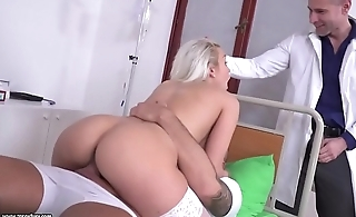 Blonde nurse got DPed - Cecilia Scott