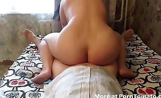 BBW Homemade lose one's heart to and suck with anal creampie