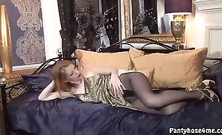 Milf in Pantyhose Hot Solo Show