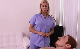 Mart MILF Pulsating Cock Having Some Painful Orgasm