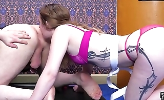 Punished little blond girl learns to lick balls and eat ass (Jessica Kay)