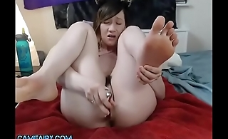 Girl Squirts and moans at Camshow at Camfairy.com