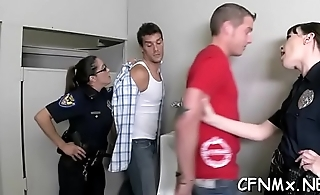 Naughty dominatrix gives cook jerking